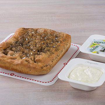 Tapas focaccia med aioli eller smør