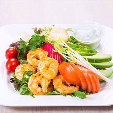 Salat med argentinske villreker og avocado