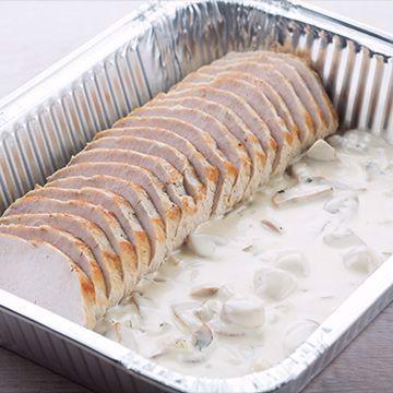 """Svinefilet med """"champignon a la crème"""""""