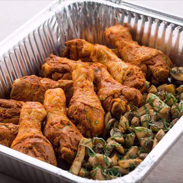 Kyllingklubber med stekt sopp