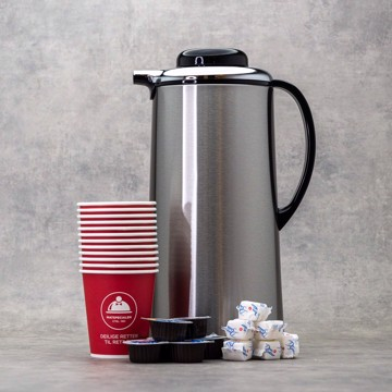 Kaffe eller Te inkl. sukker, fløte og pappkrus
